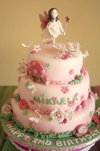 Garden Fairy Birthday Cake