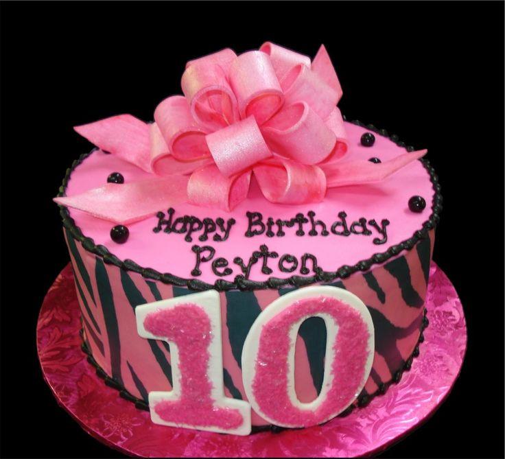 Girls 10th Birthday Party Cake