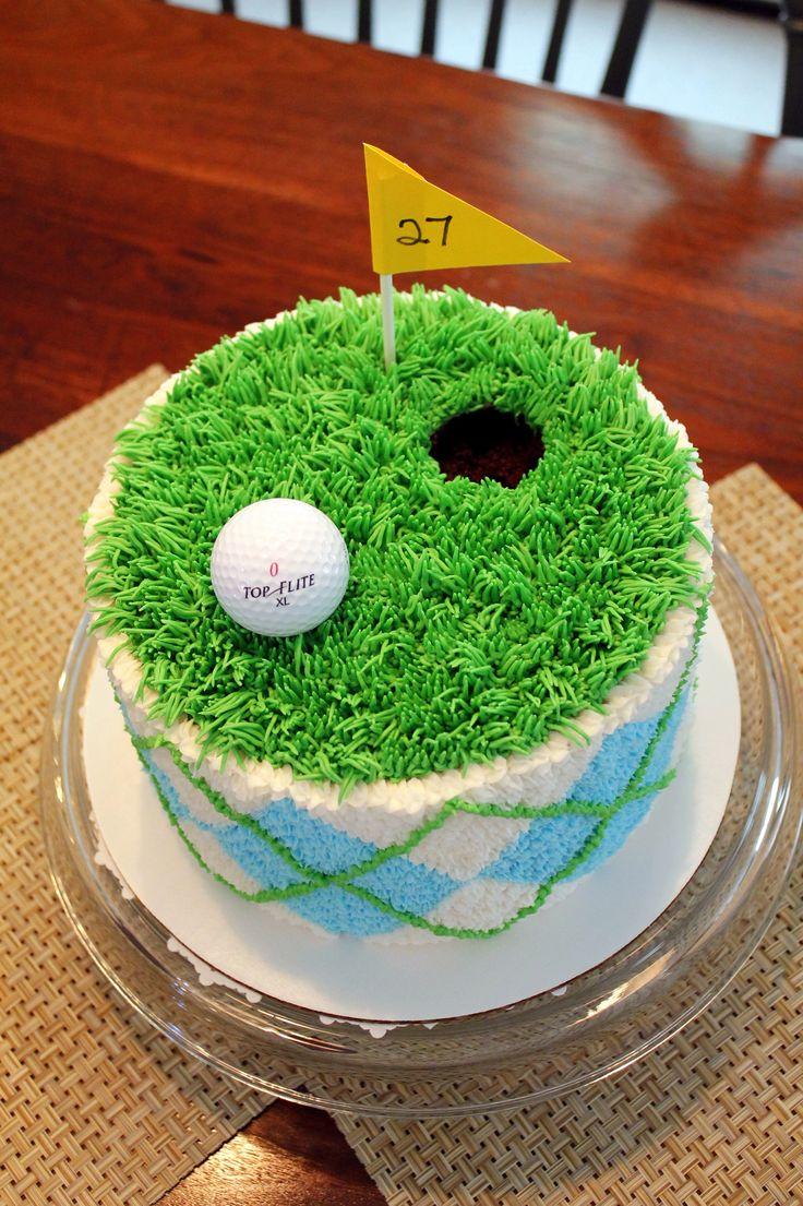 11 Golf Theme Cakes Fondant Photo Golf Course Cake Golf Themed