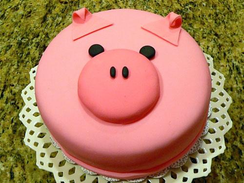 Admirable 9 Big Pig Birthday Cakes Photo Happy Birthday Pig Cake Pig Funny Birthday Cards Online Necthendildamsfinfo