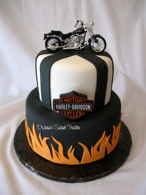 12 Motorcycle 60th Birthday Cakes Photo Motorcycle Birthday Cake