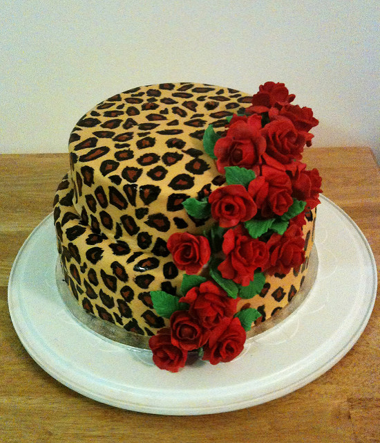 11 Red Leopard Print Cakes Photo Leopard Print Birthday Cake Pink