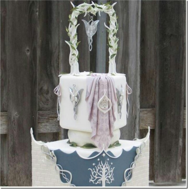 11 Lotr Wedding Cakes Photo - Lord of the Rings Wedding Cake Topper ...