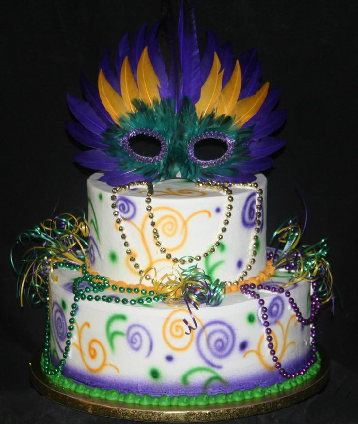 Admirable 13 Mardi Gras Birthday Cakes Photo Mardi Gras Birthday Cake Funny Birthday Cards Online Alyptdamsfinfo