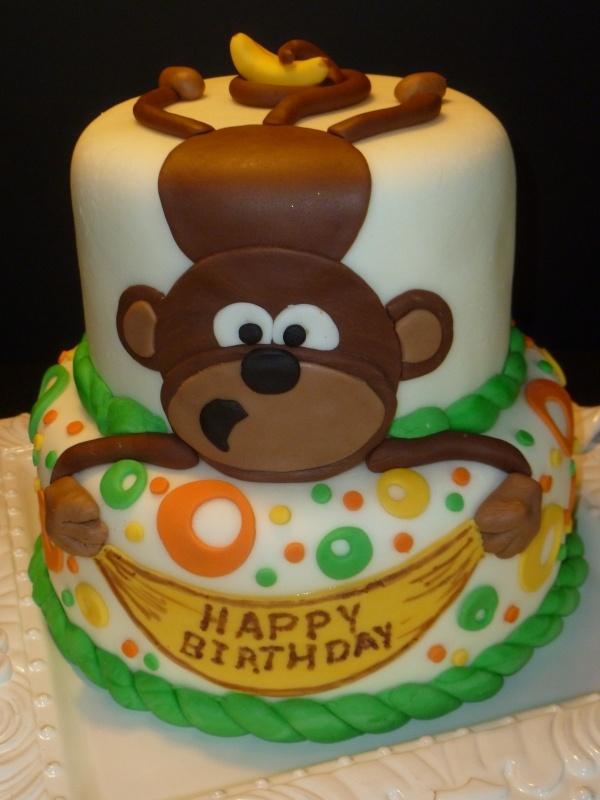 Admirable 5 Orangutan With Birthday Cakes Photo Monkey Birthday Cake Personalised Birthday Cards Paralily Jamesorg