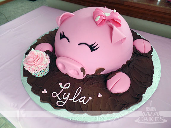 10 Realistic Pig Birthday Cakes Photo Pig Cake With Apple In Mouth