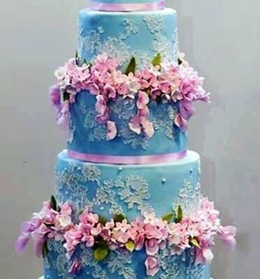 11 Blue And Fuchsia Wedding Cakes Photo Navy And Pink Wedding Cake