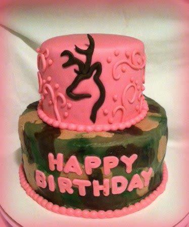 Pink Camo Birthday Cake