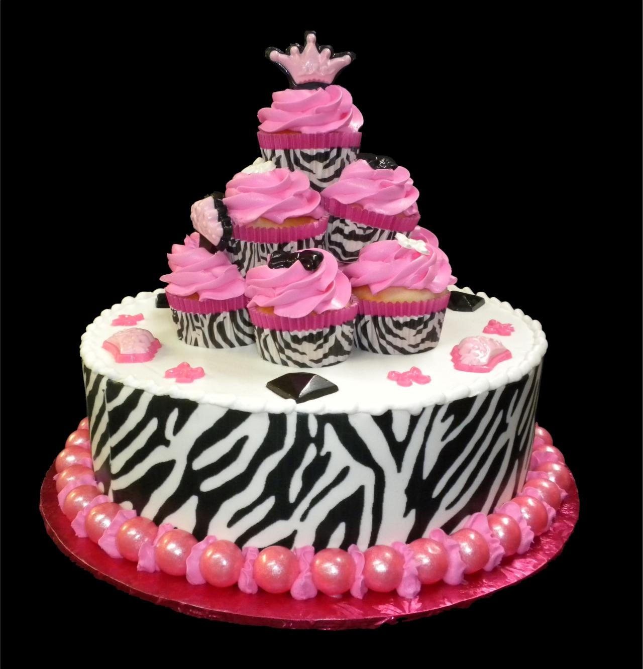 12 Round Zebra Birthday Cakes Photo Pink Zebra Princess Birthday