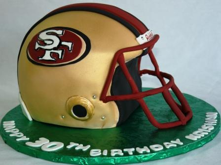 Brilliant 10 49Ers Football Helmet And Jersey Cakes Photo San Francisco Funny Birthday Cards Online Overcheapnameinfo