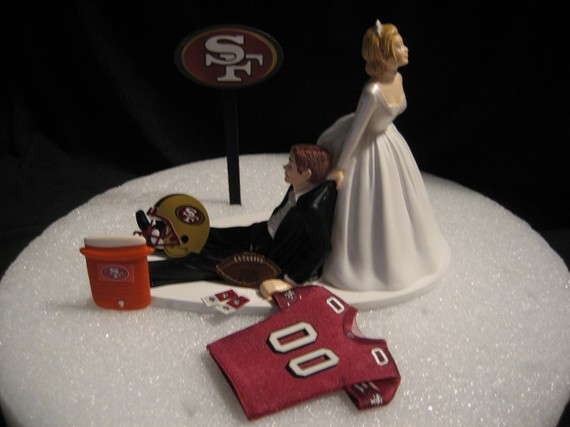 San Francisco 49ers Wedding Cake Topper