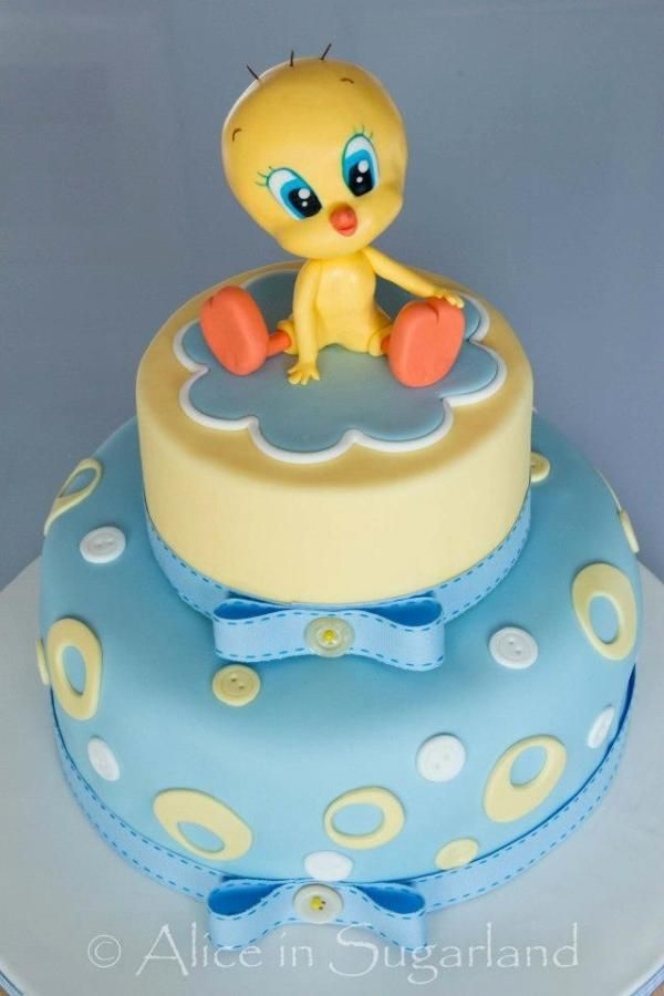 Cool 13 Tweety Bird Birthday Cakes For Toddler Boys Photo Tweety Bird Funny Birthday Cards Online Kookostrdamsfinfo