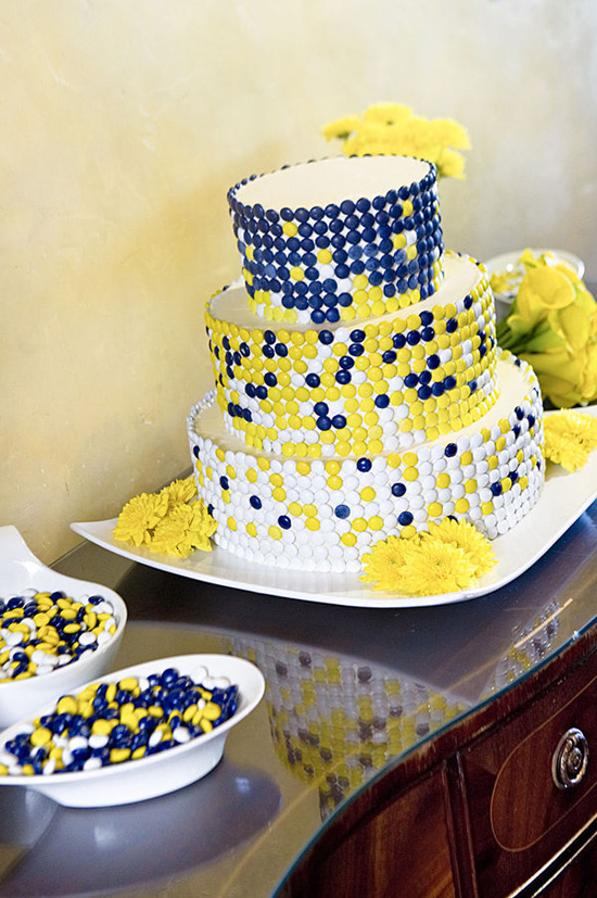 12 Wedding Cakes That Are Blue And Yellow Photo - Blue and Yellow ...
