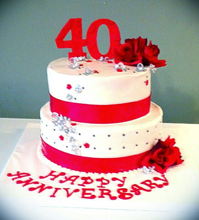 8 40th Anniversary Cakes Photo 40th Wedding Anniversary Cake 40th