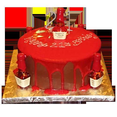 9 Liquor Themed Birthday Cakes Photo Alcohol Themed Birthday Cakes