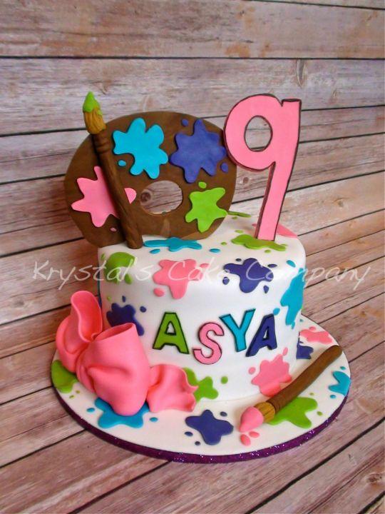 8 Artist Cakes For Girls Photo