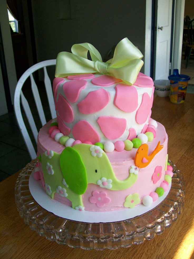 Wondrous 10 Baby Girl Birthday Cakes Photo Baby Girls 1St Birthday Cake Personalised Birthday Cards Sponlily Jamesorg