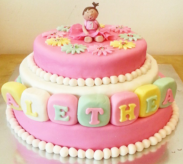 Astonishing 10 Baby Girl Birthday Cakes Photo Baby Girls 1St Birthday Cake Funny Birthday Cards Online Elaedamsfinfo