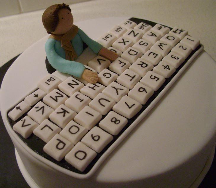 6 Computer Cookie Cakes Photo Computer Birthday Cake Computer
