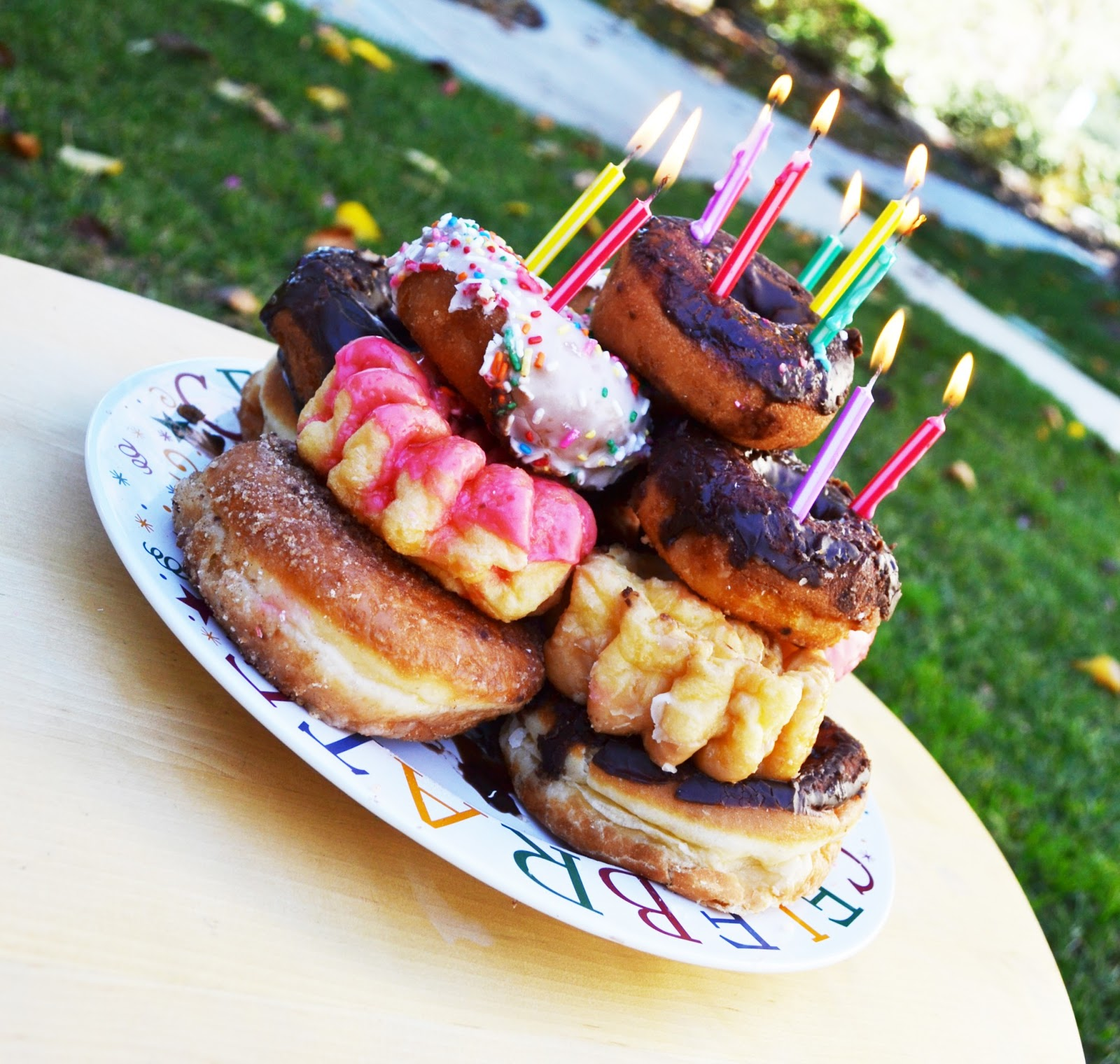 7 Birthday Cakes Made From Donuts Photo Doughnut Birthday Cake