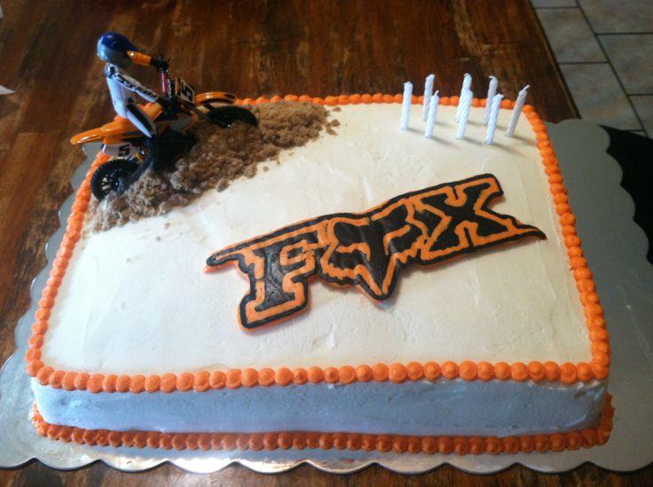 13 Fox Motocross Cakes Photo Fox Motocross Birthday Cake Fox