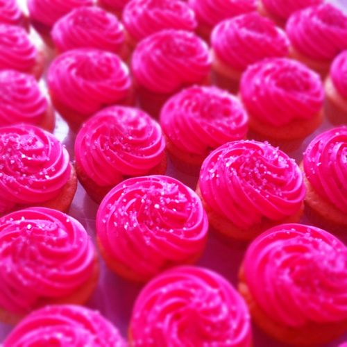 Hot Pink Cupcake