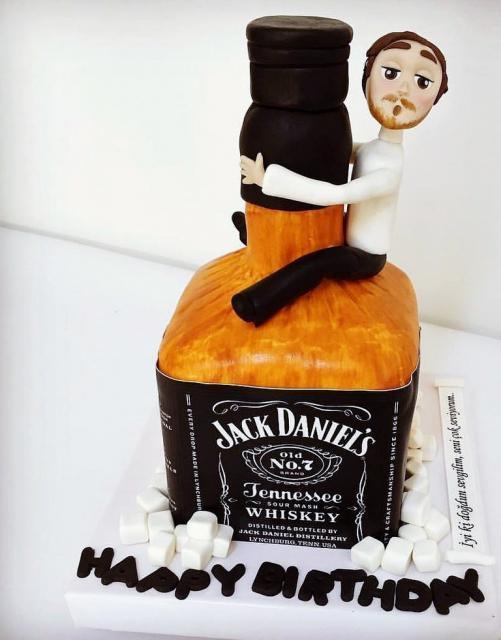 5 Petrone Whiskey Birthday Cakes Photo Scotch Whisky Bottle Cake