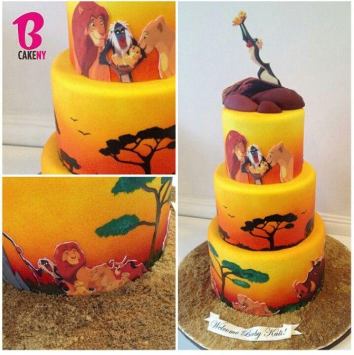 12 Lion King Wedding Cakes Designs Photo Lion King Cake Lion King