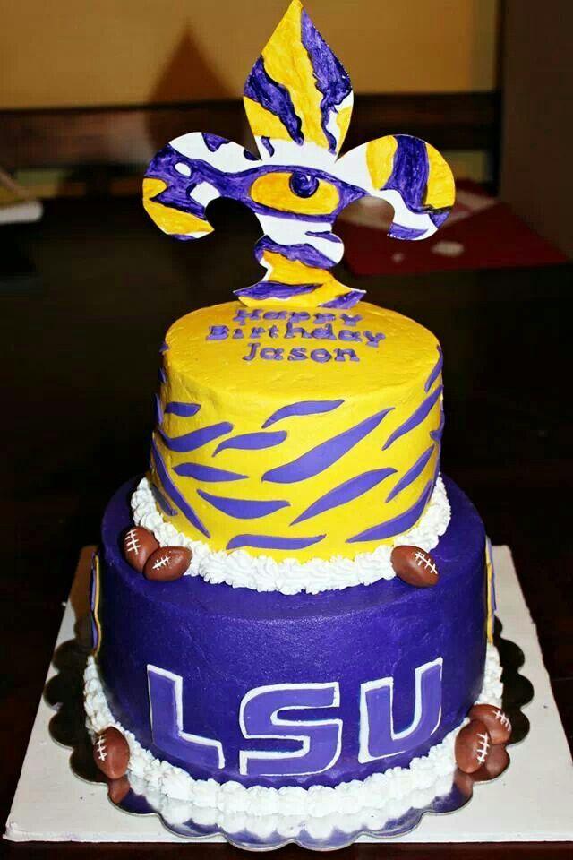 Remarkable 11 Lsu Birthday Cakes Order Online Photo Lsu Birthday Cake Lsu Personalised Birthday Cards Veneteletsinfo