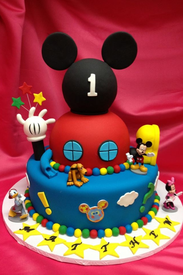 Magnificent 11 Mickey Mouse Club Birthday Cakes Photo Mickey Mouse Clubhouse Personalised Birthday Cards Paralily Jamesorg