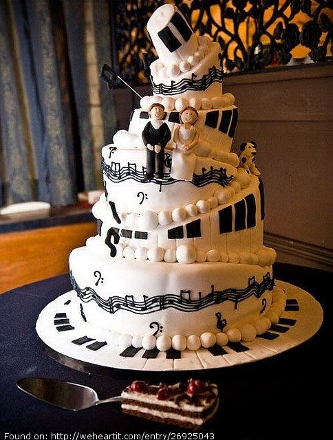 Music theme wedding images wedding decoration ideas 12 music themed wedding cakes photo music wedding cake music junglespirit Image collections