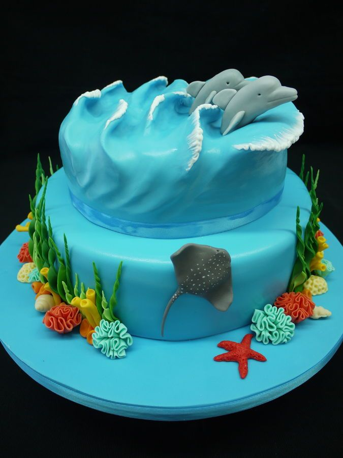 Ocean Dolphin Birthday Cake