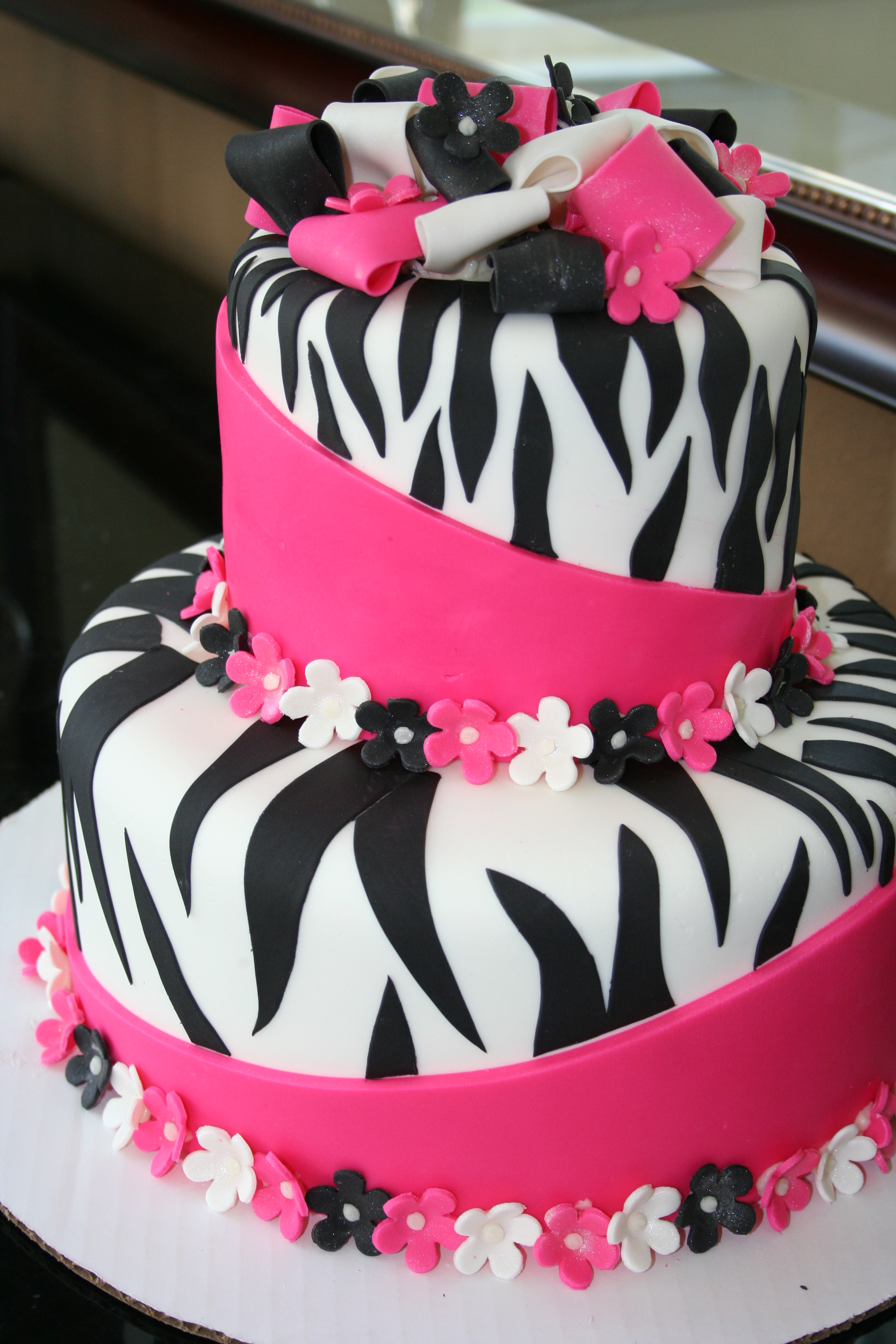11 Pink Zebra Birthday Cakes For Girls Photo Pink Black Zebra