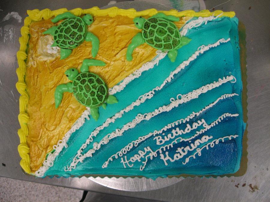 12 Sea Turtle Themed Cakes Photo Sea Turtle Cake Sea Turtle Cakes