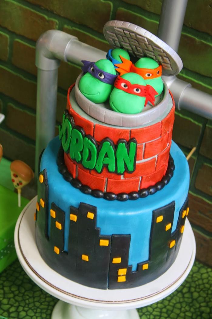 Admirable 12 Ninja Turtle Birthday Party Cakes Photo Teenage Mutant Ninja Funny Birthday Cards Online Bapapcheapnameinfo