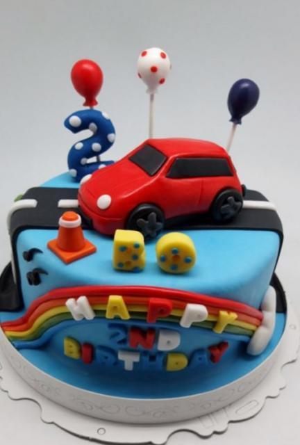 Two Year Old Boy Birthday Cake