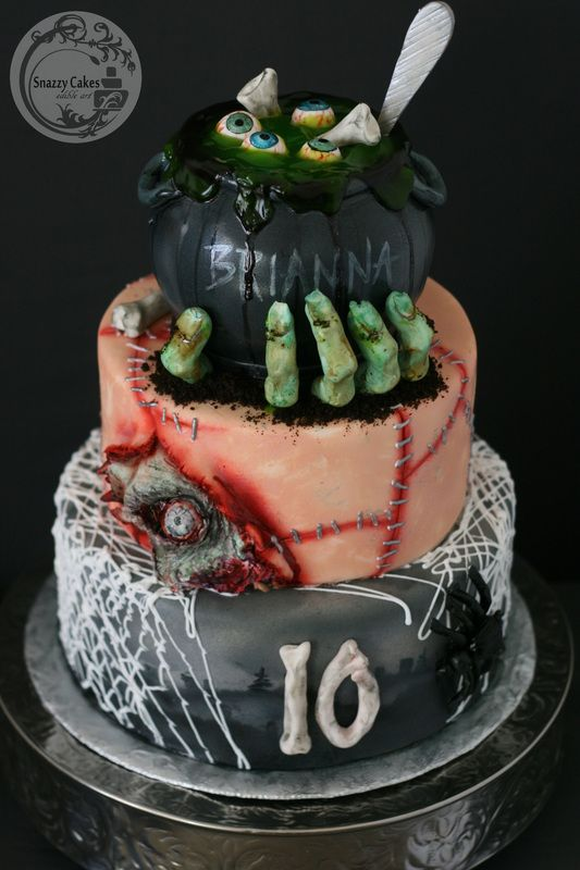11 Halloween Zombie Decorations For Cakes Photo Zombie Cake