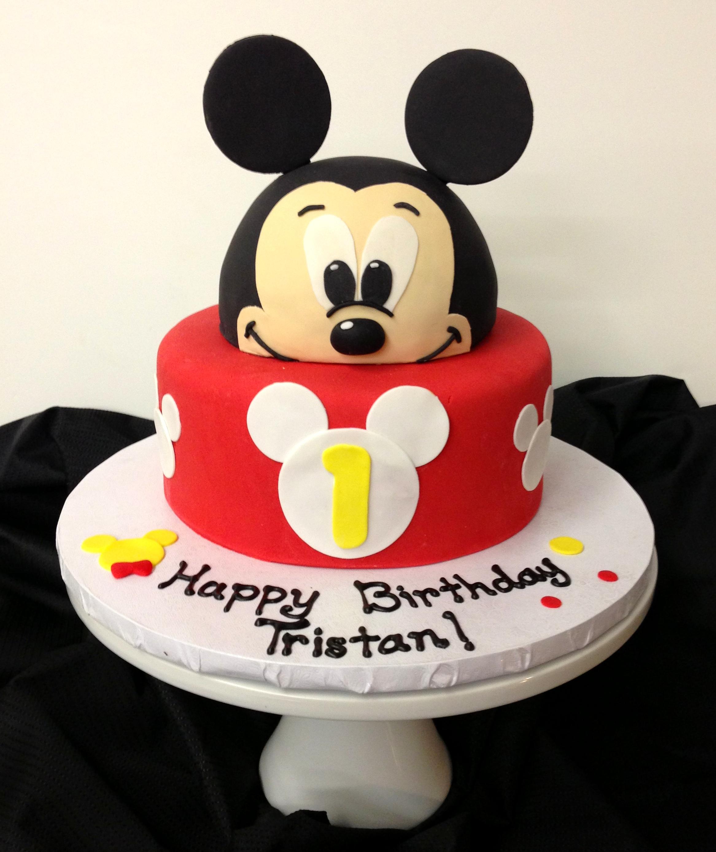 Astounding 11 Mickey Mouse 1St Birthday Cakes Boys Photo Baby Mickey Mouse Funny Birthday Cards Online Alyptdamsfinfo