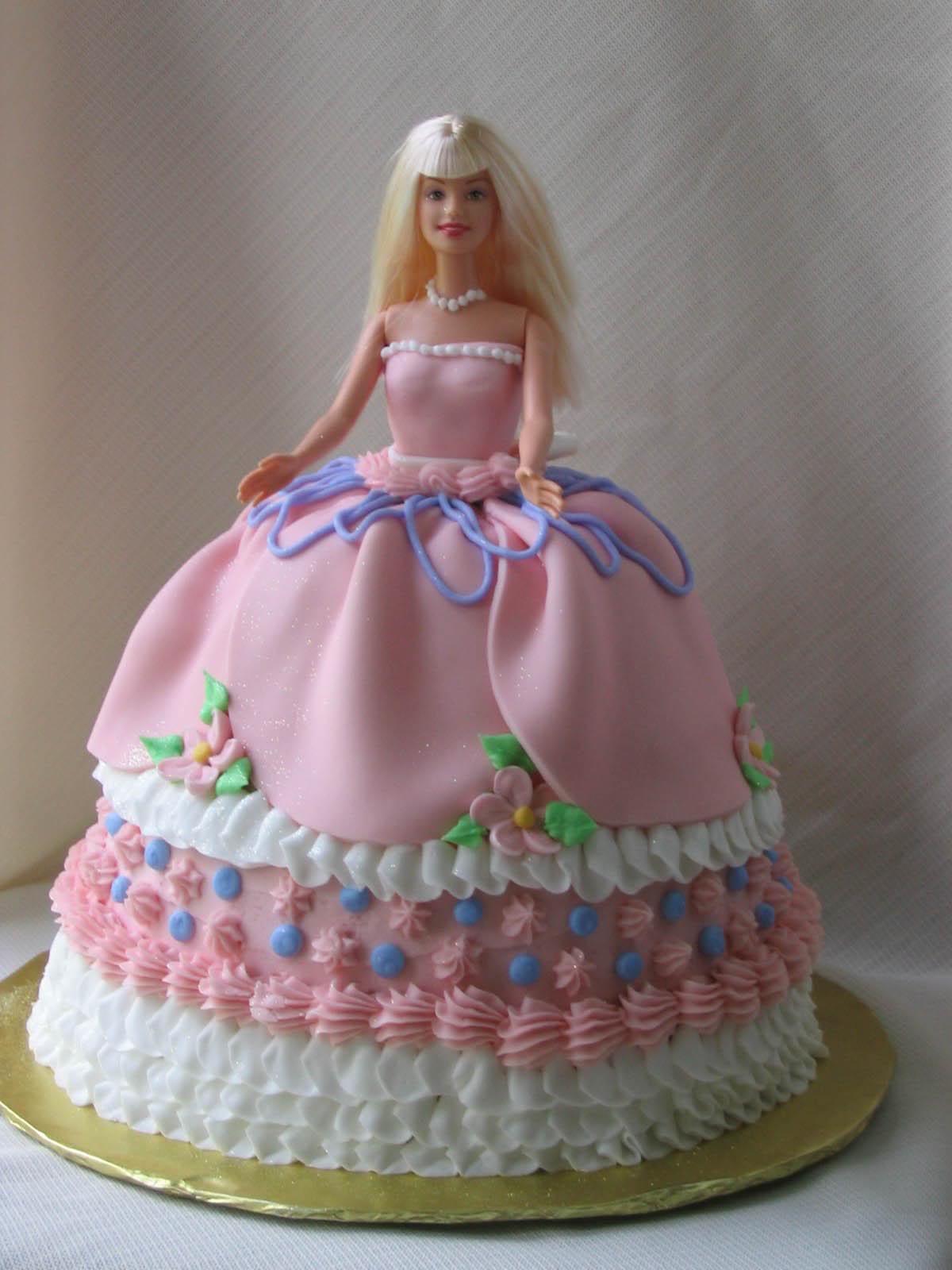 Superb 12 Barbie Birthday Cakes For Girls Photo Barbie Birthday Cake Funny Birthday Cards Online Elaedamsfinfo