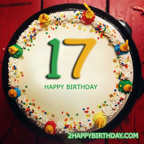Fantastic 8 Happy 17 Birthday Cakes Photo 17Th Birthday Cake Ideas For Funny Birthday Cards Online Fluifree Goldxyz