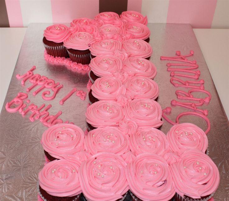 Birthday Pull Apart Cupcake Cakes Numbers