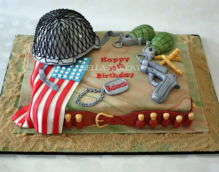12 Army Birthday Cakes For Adults Photo Army Cake Ideas Army