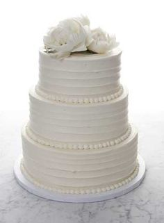 6 Simple Wedding Cakes Without Fondant Photo - Wedding Cake ...