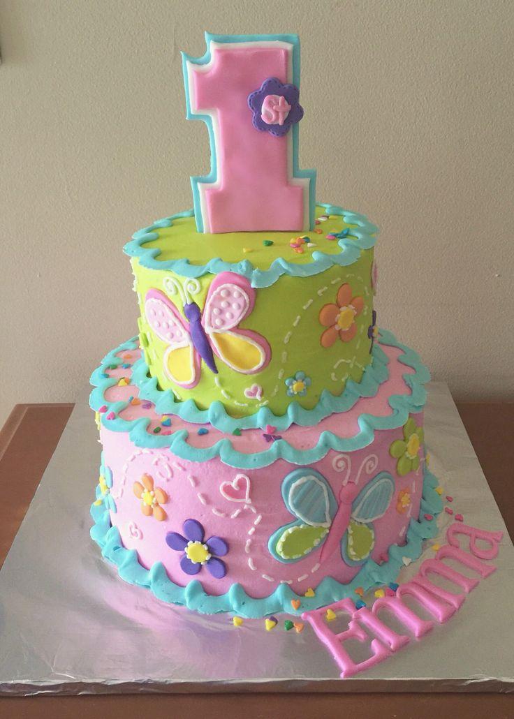 Terrific 7 Children Cakes Girls Photo Little Girls Butterfly Birthday Funny Birthday Cards Online Chimdamsfinfo
