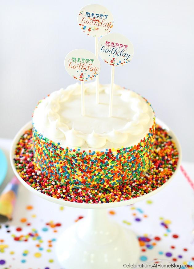 13 Confetti Cakes Design Photo Edible Cake Confetti Confetti