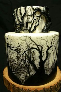 Groovy 7 Eerie Halloween Birthday Cakes Photo Creepy Halloween Cake Personalised Birthday Cards Epsylily Jamesorg