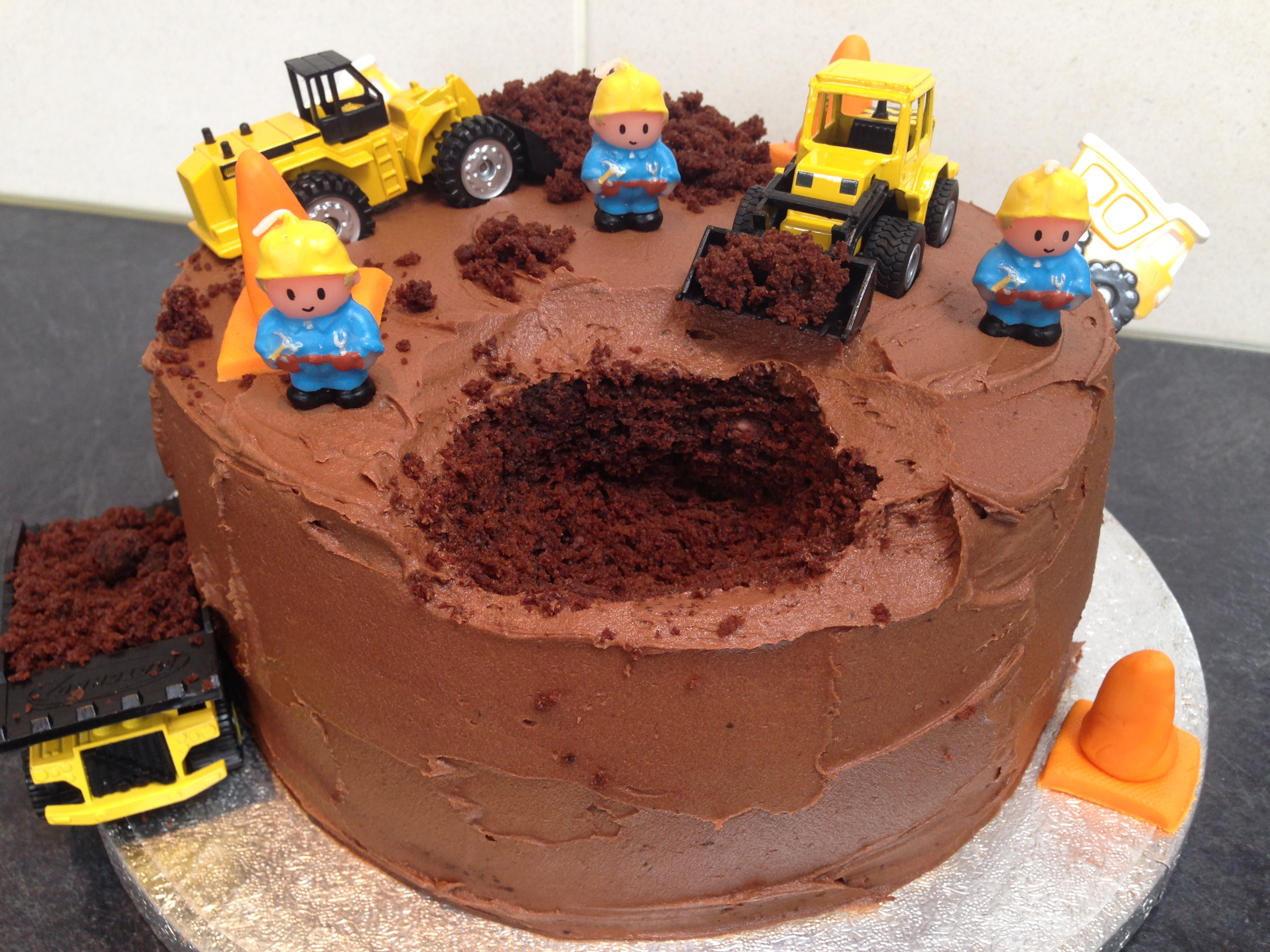 Digger Birthday Cakes For Boys