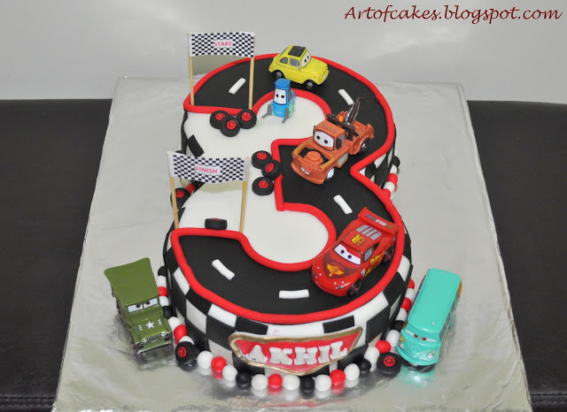 Disney Cars 3 Birthday Cake