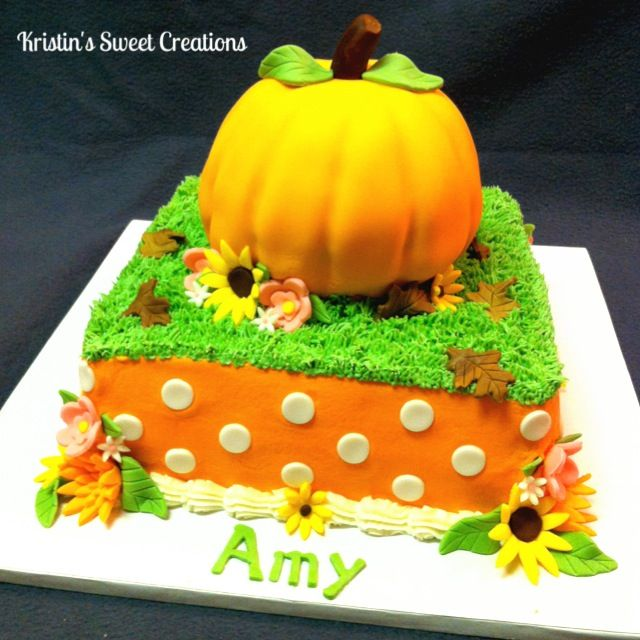 Cool 8 Birthday Cakes With Fall Pumpkins Photo Fall Pumpkin Birthday Funny Birthday Cards Online Alyptdamsfinfo