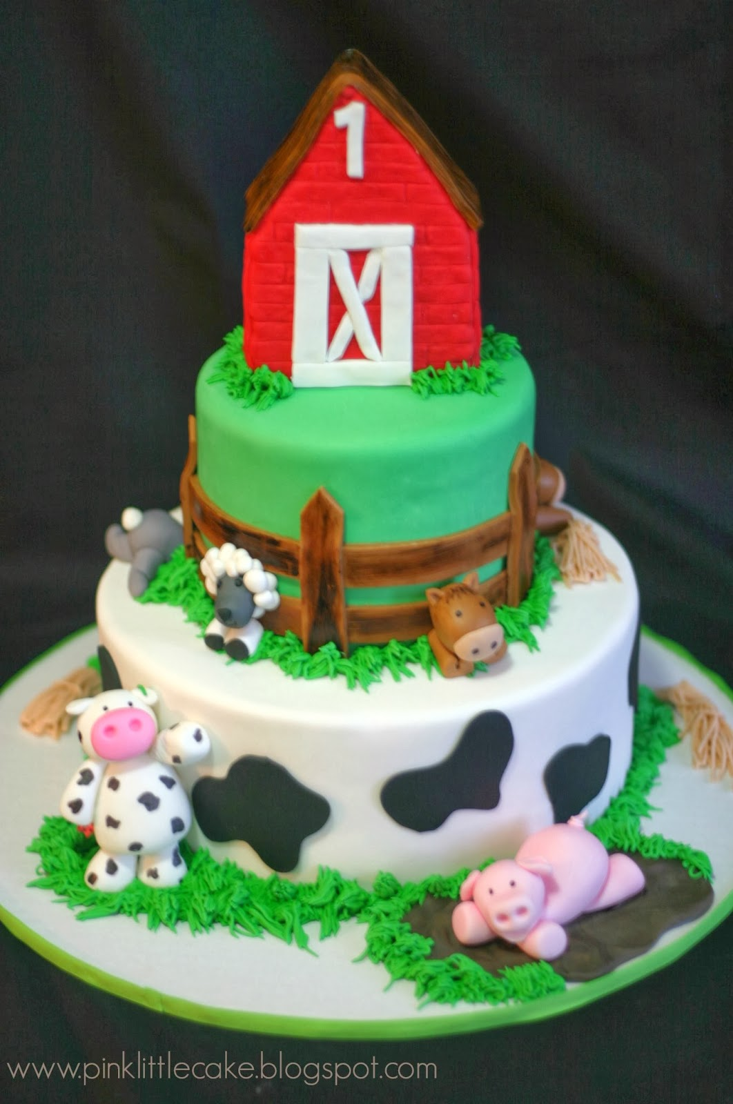 8 Farm Themed Birthday Sheet Cakes Photo Farm Theme Birthday Cake